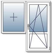 Варианты поворотно откидных окон на лоджию с большой высотой створок.